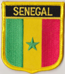 Senegal Embroidered Flag Patch, style 07.